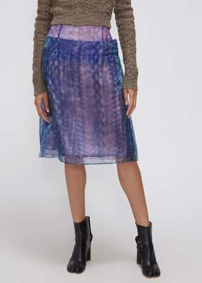 Maison Margiela Organza Printed Skirt