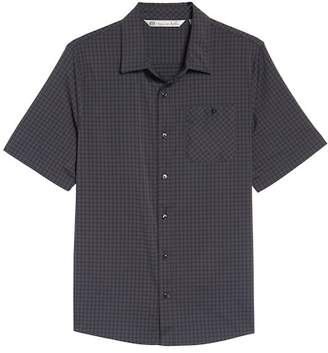 Travis Mathew Banker Check Slim Fit Sport Shirt