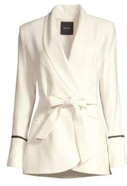 Smythe Tie-Waist Wool-Blend Blazer