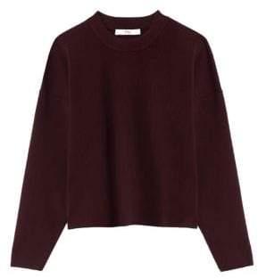 Tibi Merino Wool Cropped Pullover Sweater