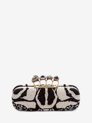 Alexander McQueen Bug Embroidery Four-Ring Clutch