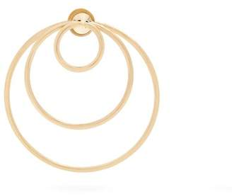 Delfina Delettrez Yellow Gold Hoop Single Earring - Womens - Gold