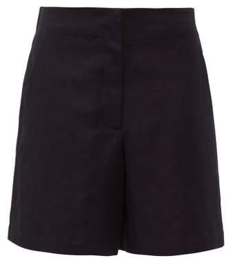 Raey Elasticated Back Cotton Blend Shorts - Womens - Navy