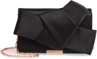 d25f3abfd Ted Baker Fefee Satin Knotted Bow Clutch