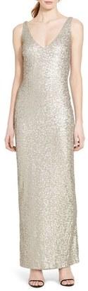 Lauren Ralph Lauren Sequin Mesh Gown $280 thestylecure.com