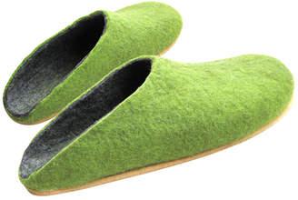 "Organic Wool Clogs ""Fresh Greenery"""