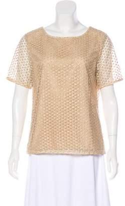 Diane von Furstenberg Metallic Knit Top