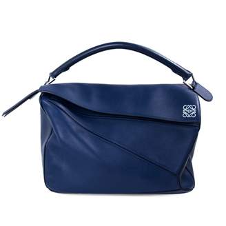 78a7c3a6c17115 Loewe Puzzle Navy Leather Handbag