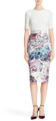 Women's Ted Baker London Illuminated Bloom Sheath Dress $315 thestylecure.com