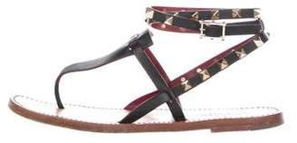 Valentino Rockstud Wrap-Around Sandals