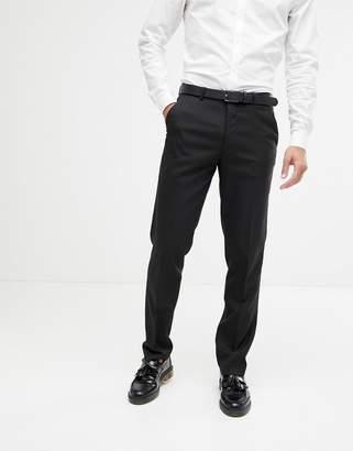 Asos DESIGN slim suit pants in black