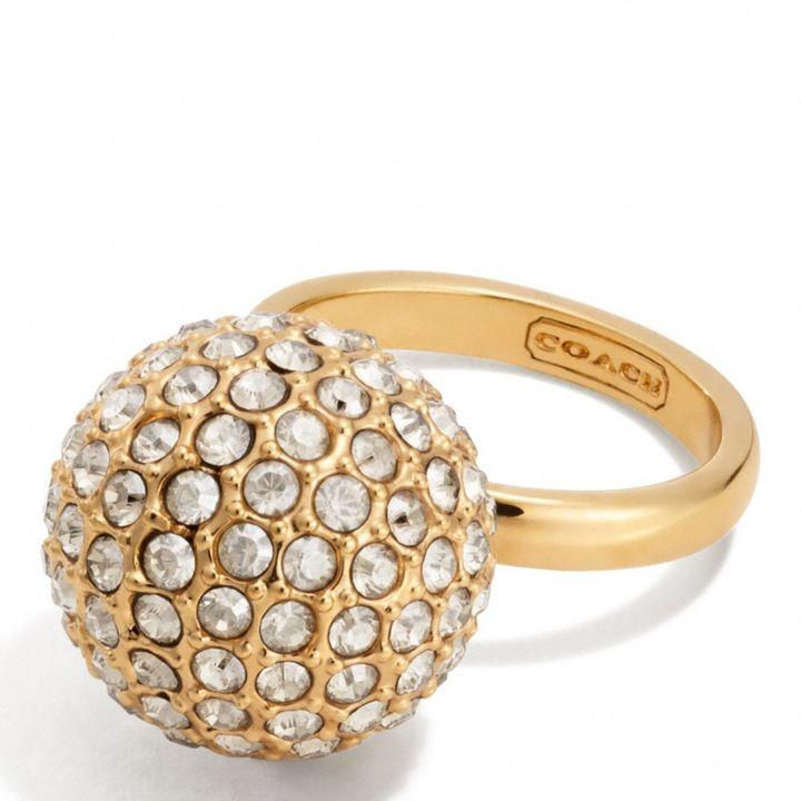 Large Pave Ball Ring