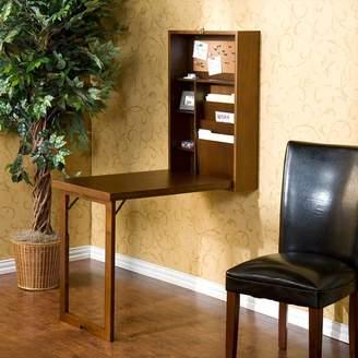 Southern Enterprises Wall-Mounted Fold-Out Convertible Desk