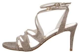Stuart Weitzman Glitter High-Heel Sandals