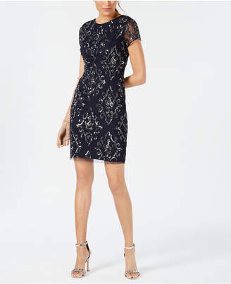 Adrianna Papell Petite Beaded Sequin Dress