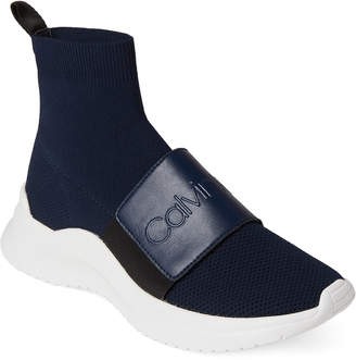 Calvin Klein Dark Navy Uni Stretch Knit Sneakers