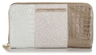 Women's Brahmin Suri Leather Zip Around Wallet - Metallic $155 thestylecure.com