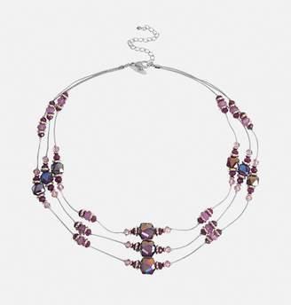 Avenue Iridescent Stone Beaded Necklace