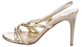 Diane von Furstenberg Metallic Multistrap Sandals