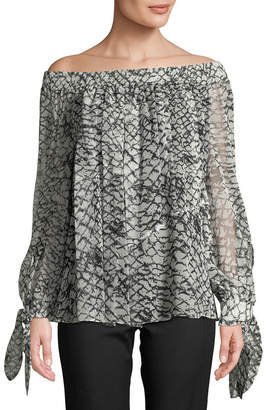 Derek Lam 10 Crosby Derek Lam Off-The-Shoulder Silk Blouse
