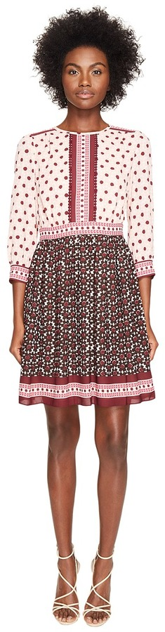 Kate Spade Kate Spade New York - Rambling Roses Floral Tile Mini Dress Women's Dress