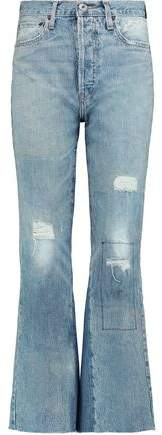 Leandra Cropped Mid-Rise Bootcut Jeans
