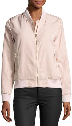 On the Road Lia Bomber Jacket, Light Pink $99 thestylecure.com