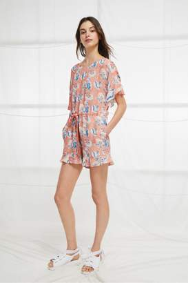 French Connection Cari Frill Short Romper