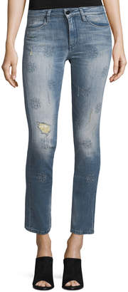 Brockenbow Lily Slim Straight-Leg Cropped Jeans