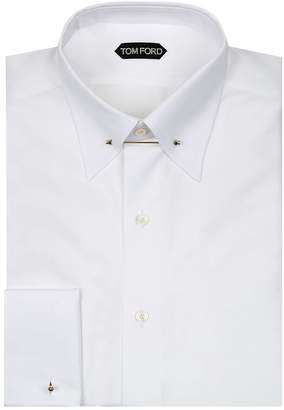 Tom Ford Metal Bar French Cuff Shirt