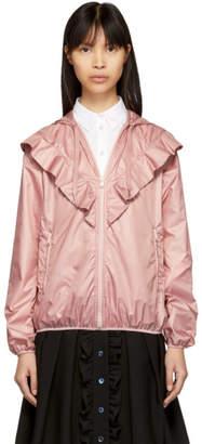 RED Valentino Pink Ruffle Shell Jacket