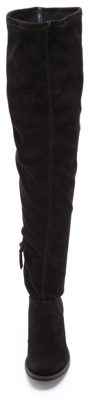 Alice + Olivia Magda Suede Over the Knee Boots