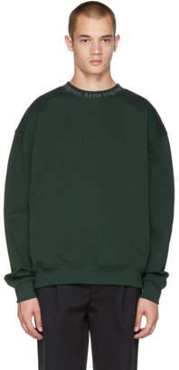 Acne Studios Green Flogho Crewneck Sweatshirt