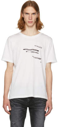 Saint Laurent White Sorry For What I Said T-Shirt