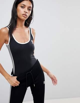 adidas adicolor Three Stripe Body In Black