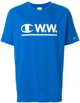 Wood Wood Champion X logo T-shirt