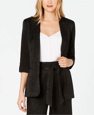Calvin Klein Jacquard Roll-Tab-Sleeve Blazer