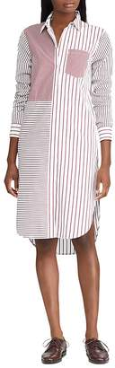 Lauren Ralph Lauren Mixed Stripe Shirt Dress
