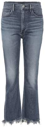 3x1 Frayed flare jeans