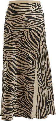 Anine Bing Zebra Slip Skirt