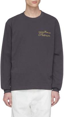 Alexander Wang 'Platinum' slogan appliqué long sleeve T-shirt