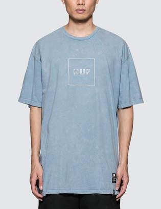 HUF Outline Box Logo Acid Wash T-Shirt
