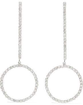 Kenneth Jay Lane Woman Silver-tone Crystal Hoop Earrings Black Size Kenneth Jay Lane p4O8zkhi9I