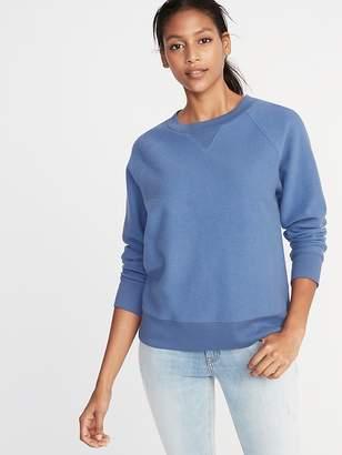 Old Navy Reverse-Knit Crew-Neck Sweatshirt for Women