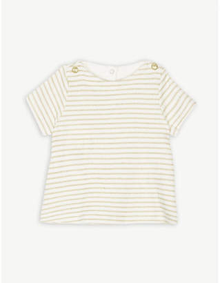 Petit Bateau Nautical stripe cotton-blend T-shirt 3-36 months