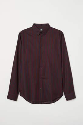 H&M Cotton Shirt Regular fit - Red