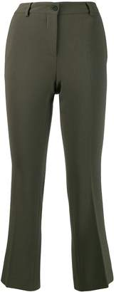 Alberto Biani cropped crepe trousers