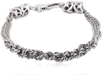 Emanuele Bicocchi Slim Crochet Sterling Silver Bracelet