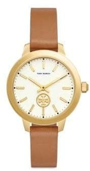 Tory Burch Collins Goldtone Leather Two-Hand Watch