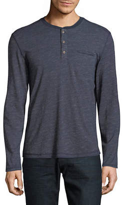 Black Brown 1826 Jersey Long Sleeve Henley
